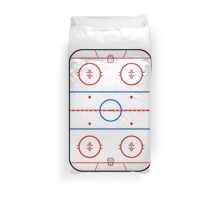 Ice Rink Diagram Hockey Game Companion Duvet Cover