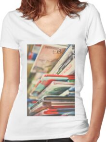 B is for Books Women's Fitted V-Neck T-Shirt