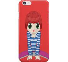 Chibi girl sitting on the floor iPhone Case/Skin