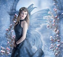 Snow Fairy fantasy digital art fantasy portrait by artdecoportrait