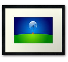 THE LIGHT OF THE WORLD... Framed Print