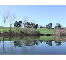 Reflections In The Esk At Longford Photographic Print