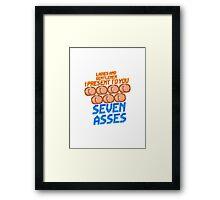 Game Grumps - Seven Asses Framed Print
