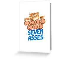 Game Grumps - Seven Asses Greeting Card