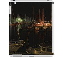 Evening at the marinas in Oriental, NC iPad Case/Skin