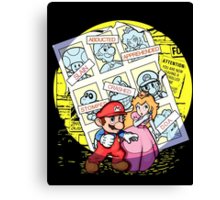 Future Past Mario Canvas Print