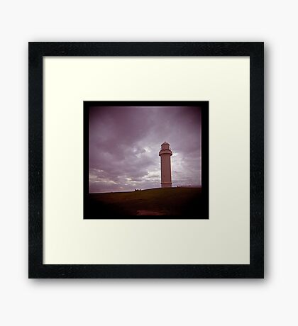 big lighthouse on the hill Framed Print