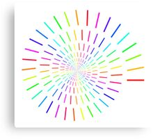 Swirled Colors Canvas Print