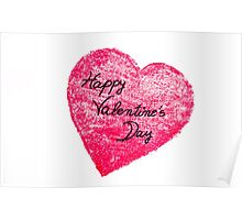 Happy Valentines Day greeting card Poster