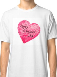 Happy Valentines Day greeting card Classic T-Shirt