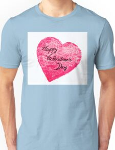 Happy Valentines Day greeting card Unisex T-Shirt