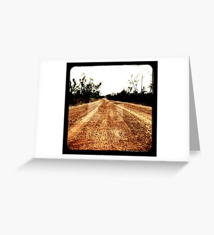 Track Winding Back Greeting Card