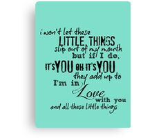 Little Things Canvas Print