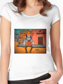 Watch Out, Louie Women's Fitted Scoop T-Shirt