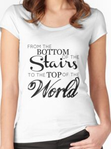 The boys from the stairs Women's Fitted Scoop T-Shirt