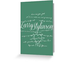 Larry Stylinson Quotes Greeting Card