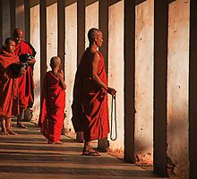 Shwezigon monks. by DaveBassett