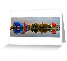 Panoramic reflections Greeting Card