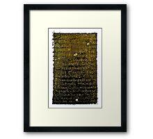 Khmer Script - Temples of Angkor, Cambodia Framed Print