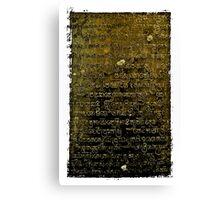Khmer Script - Temples of Angkor, Cambodia Canvas Print