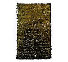 Khmer Script - Temples of Angkor, Cambodia Photographic Print