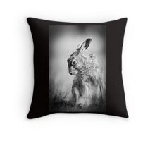 Dark Hare Throw Pillow