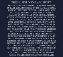 The S.S. Stylinson, A History by echosingerxx