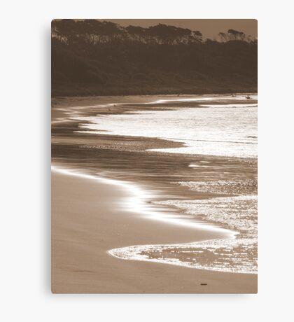 Sepia Beach Canvas Print