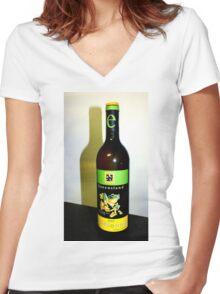 Frog Wine Maybe?  South Burnett Qld Australia Women's Fitted V-Neck T-Shirt