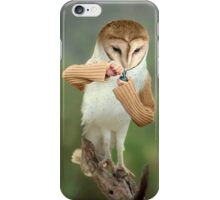 A Barn Owl smoking a Bowl iPhone Case/Skin