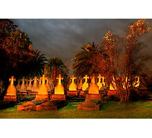 HAPPY HALLOWEEN  -Dont Be Late We Will Leave The Lights On For You !  Photographic Print