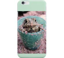Toad in a sandbox 88 iPhone Case/Skin
