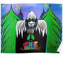 Bigfoot Peace Poster