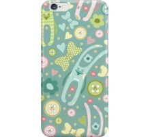 Funny rabbits iPhone Case/Skin