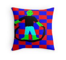 Green Warrior, by 9year old Zooty Throw Pillow
