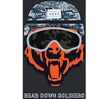 Chicago Bear Soldier Photographic Print