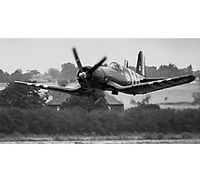F4U-7 Corsair NX1337A lowdown and shifting Photographic Print