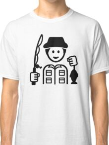 Angler fishing rod Classic T-Shirt