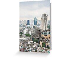 Downtown Bangkok Greeting Card