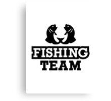 Fishing team Canvas Print