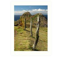 West Maui Fence Art Print