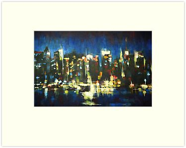 New York Skyline 2008 by Samuel Durkin