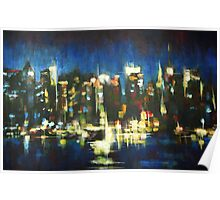 New York Skyline 2008 Poster