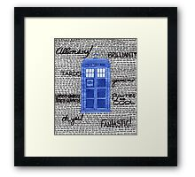 Tardis Doctor Quotes Framed Print