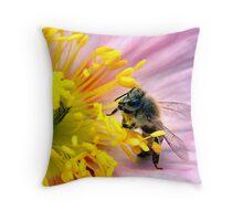 Reaching for the Pollen Throw Pillow