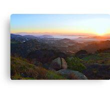 Sunrise Over San Fernando Valley Canvas Print