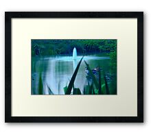 Fountain and nature Framed Print
