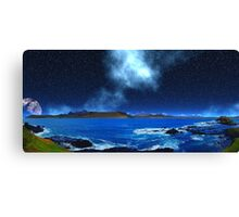 Thoughts of Distant Earth - Collab. Ashley Ng/alienvisitor Canvas Print