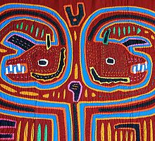 San Blas Mola embroidery by Maggie Hegarty