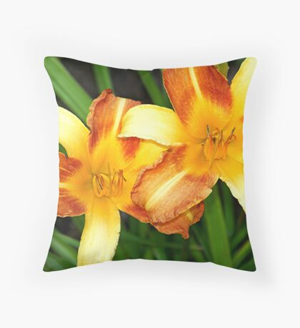 Daylily Frans Hals Throw Pillow